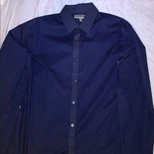 Never Worn L Express Fitted Navy Dress Shirt